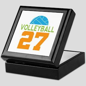 Volleyball player number 27 Keepsake Box