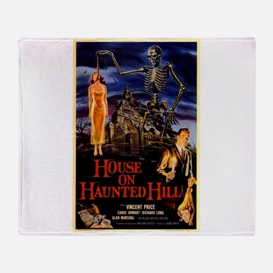 house on haunted hill Throw Blanket