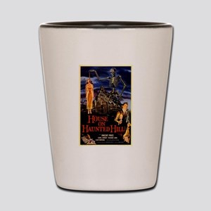 house on haunted hill Shot Glass