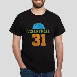 Volleyball player number 31 Dark T-Shirt