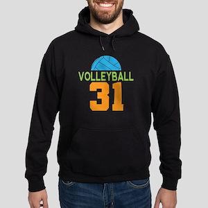 Volleyball player number 31 Hoodie (dark)