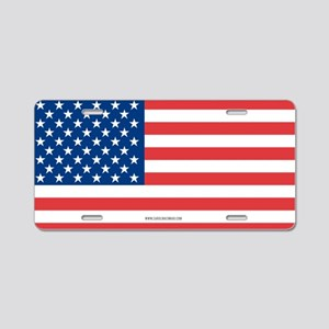 US Flag Aluminum License Plate