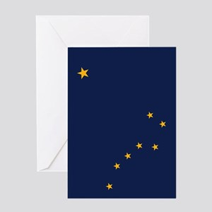 Alaska State Flag Greeting Cards