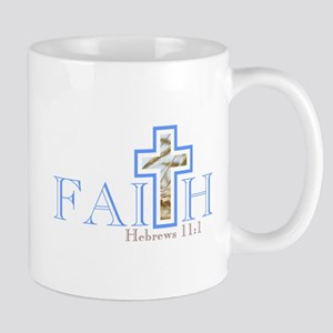 Faith With Wheat Cross Mugs