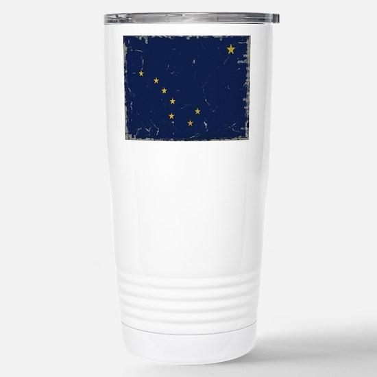 Alaska Flag VINTAGE Travel Mug