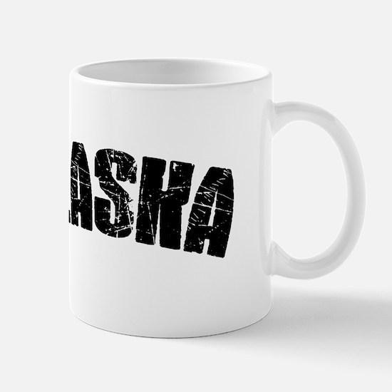 Alaska Block Font Black Mug