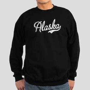 Alaska White Script Sweatshirt (dark)