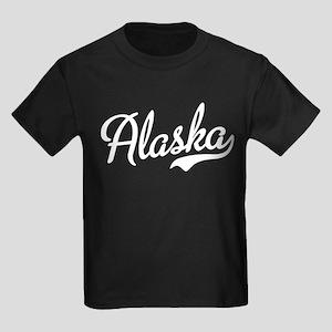 Alaska White Script Kids Dark T-Shirt