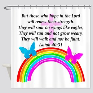 ISAIAH 40:31 Shower Curtain
