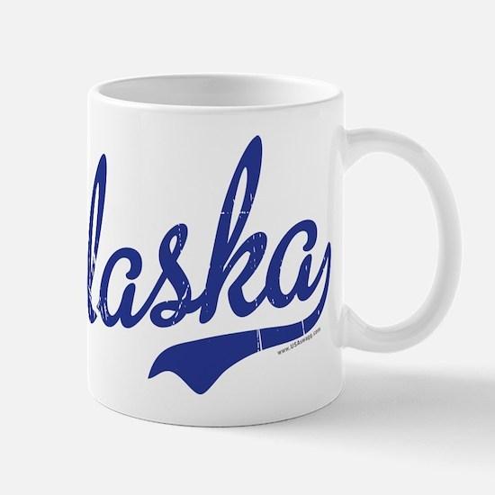 Alaska Blue Script VINTAGE Mug