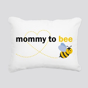 Mommy To Bee Rectangular Canvas Pillow