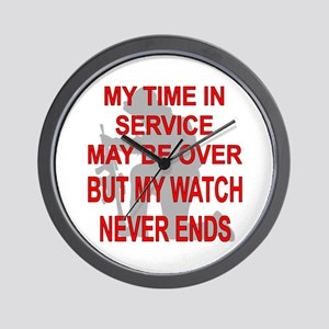 My Watch Never Ends 3 Wall Clock