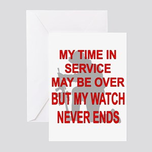 My Watch Never Ends 3 Greeting Cards (Pk of 20)