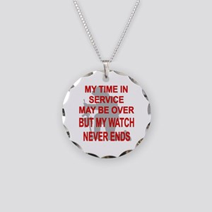 My Watch Never Ends 3 Necklace Circle Charm