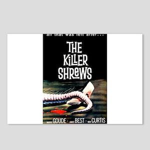 the killer shrews Postcards (Package of 8)