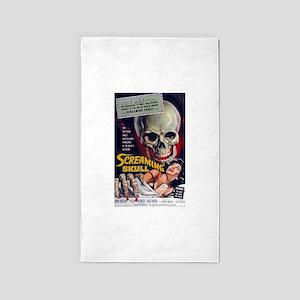 screaming skull 3'x5' Area Rug