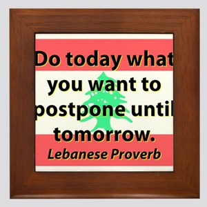 Do Today What You Want Framed Tile
