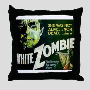 white zombie Throw Pillow