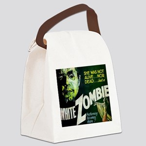 white zombie Canvas Lunch Bag
