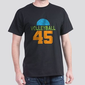 Volleyball player number 45 Dark T-Shirt