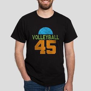 Volleyball player number 45 Dark T-Shirt