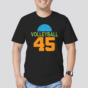 Volleyball player numb Men's Fitted T-Shirt (dark)
