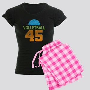 Volleyball player number 45 Women's Dark Pajamas
