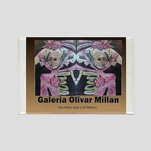 Galeria Olivar Millan Day of the  Rectangle Magnet