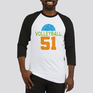 Volleyball player number 51 Baseball Jersey