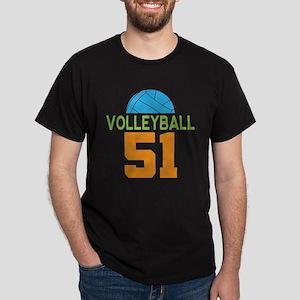 Volleyball player number 51 Dark T-Shirt