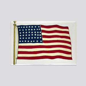 Vintage American Flag Rectangle Magnet