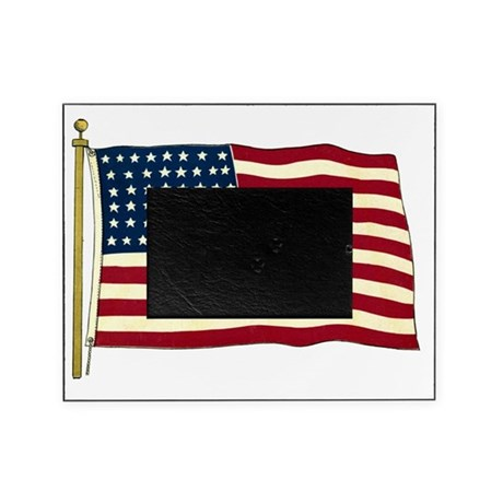 Vintage American Flag Picture Frame by listing-store-14940502
