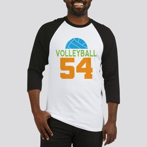 Volleyball player number 54 Baseball Jersey