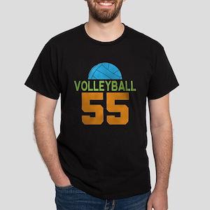 Volleyball player number 55 Dark T-Shirt