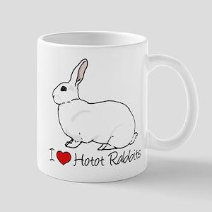 I Heart Hotot Rabbits Mugs