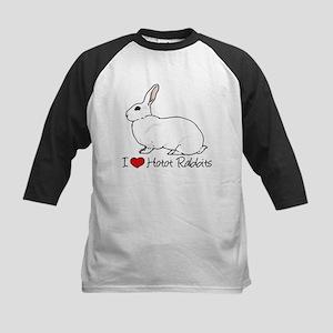 I Heart Hotot Rabbits Baseball Jersey
