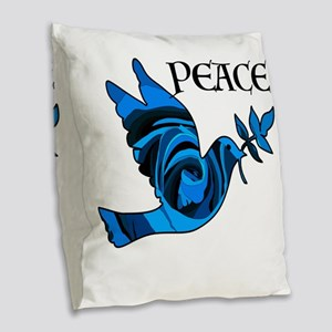 Think Zen Burlap Throw Pillow