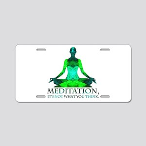 Meditation Aluminum License Plate