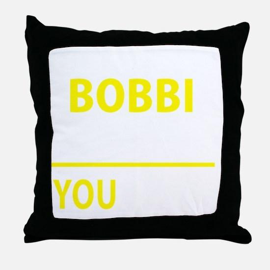 Unique Bobbi Throw Pillow