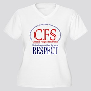 CFS Respect Women's Plus Size V-Neck T-Shirt