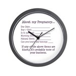 About My Pregnancy Fill-In Form Wall Clock