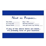 About My Pregnancy Fill-In Form Postcards (Package