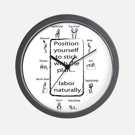 Positions for labor Wall Clock