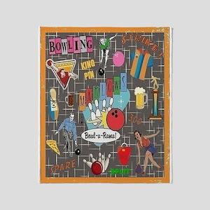 Bowl-A-Rama Throw Blanket