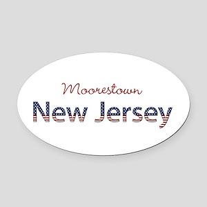 Custom New Jersey Oval Car Magnet