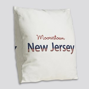 Custom New Jersey Burlap Throw Pillow