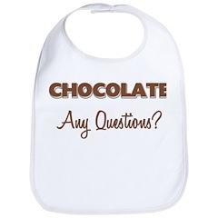 Chocolate Any Questions Bib