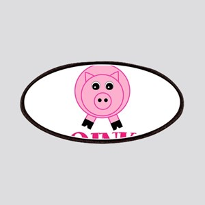 OINK Cute Pink Pig Patches
