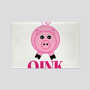 OINK Cute Pink Pig Magnets