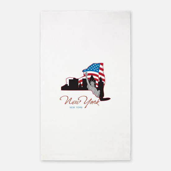 NEW York 3'x5' Area Rug
